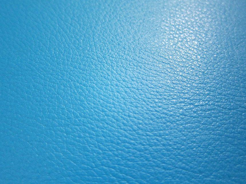 Faux Leather Fabric In Lambskin Pattern Bright Blue