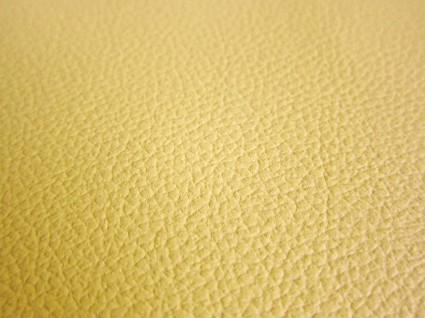 Faux Leather Fabric In Cow Leather Pattern Mustard