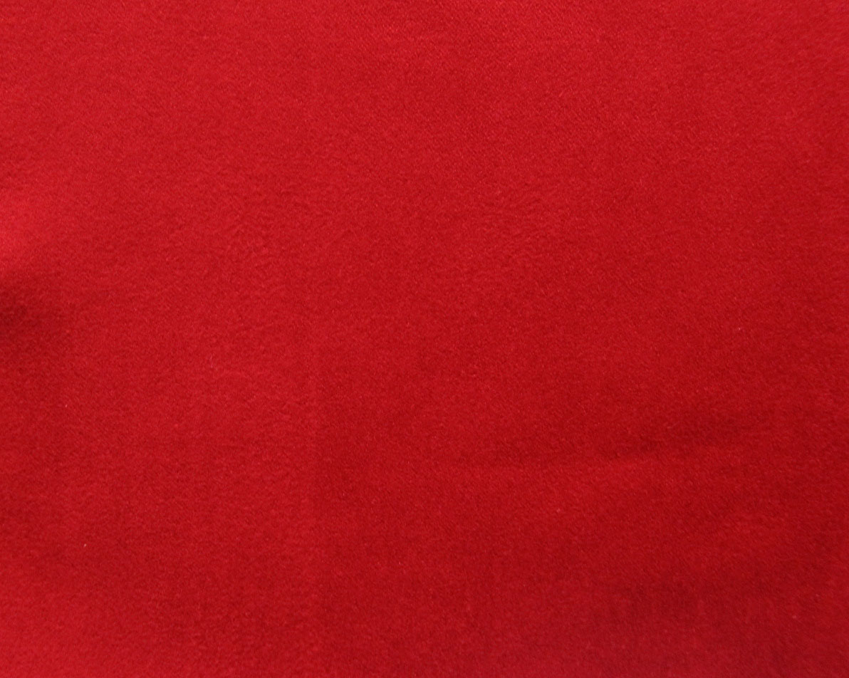 Red Faux Suede Fabric Microsuede Suedette Vegan